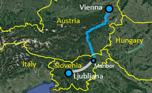 Vienna - Ljubljana Bike Tour Map